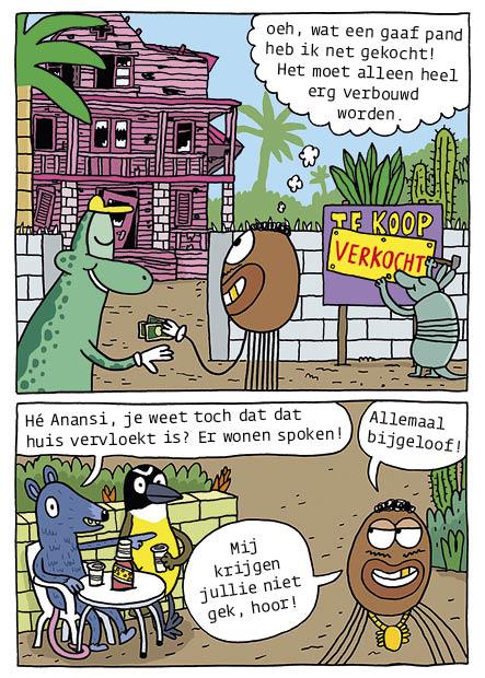 Anansi koopt huis