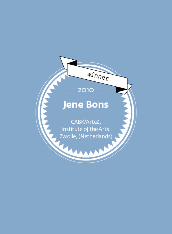 Jene Bons • stArt Award winner • 2010