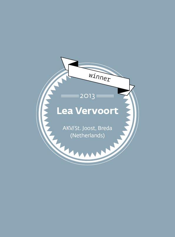 Lea Vervoort • stArt Award winner • 2013