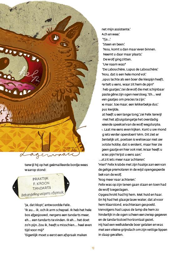 De wolf en de 7 gaatjes - illustratie: Willem Lagerwaard