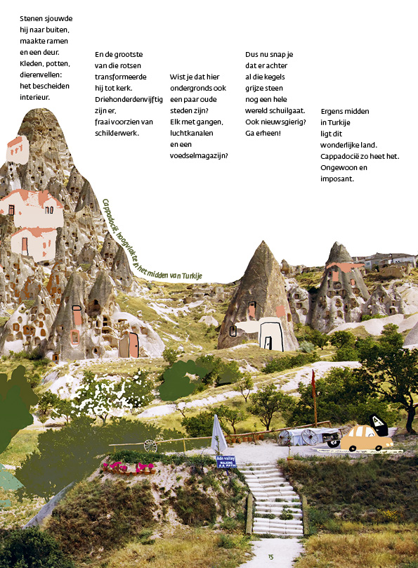 Wonen in een rots - illustratie: Sünne van der Meulen