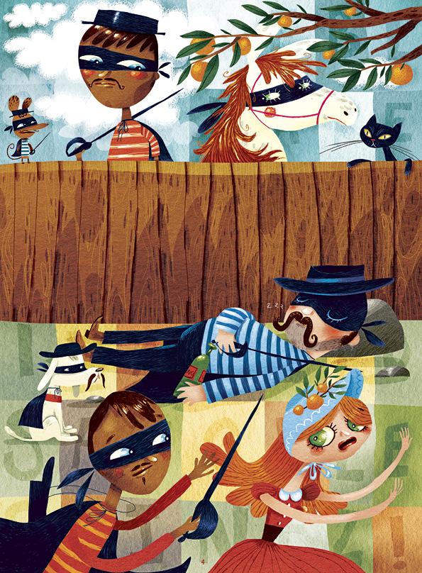 Zorro & Zorro - illustratie: Sebastiaan van Doninck