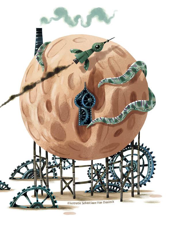 Deel 1: De ongelofelijke avonturen van Jules Verne • illustratie Sebastiaan Van Doninck