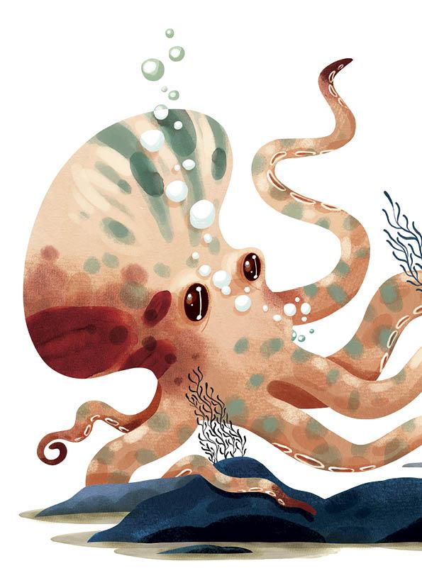 Deel 4: Twintigduizend mijlen onder zee • illustratie Sebastiaan Van Doninck