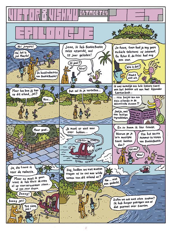 Victor & Vishnu ontmoeten Jet Manrho • strip Jeroen Funke
